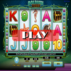 play slot game Dolphin Reef