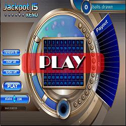 Jackpot balls Keno game