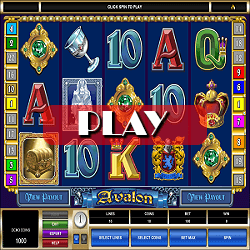 play slot game at our site avalon