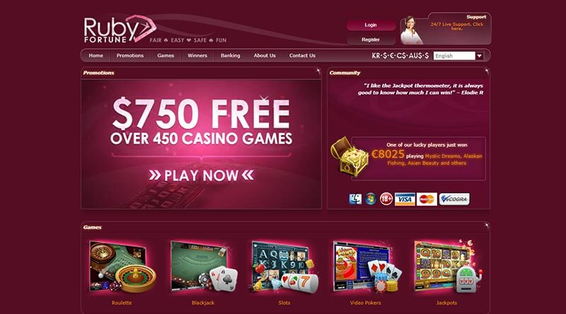 Ruby fortune blackjack lucky 6 slot review